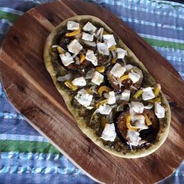 Rezept: Gemüsefladen mit Pesto