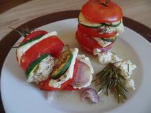 Gemüse-Türmchen mit Feta - Rezept - Bild Nr. 6221