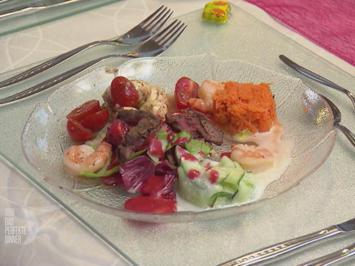 Salatplatte à la Adrian mit frischem Baguette - Rezept - Bild Nr. 3
