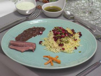 Rezept: Ente in Granatapfelsoße mit Basmati-Reis