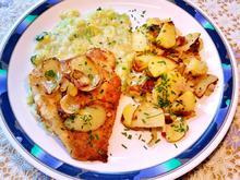 Seelachsfilet mit Bratkartoffeln - Rezept - Bild Nr. 6222