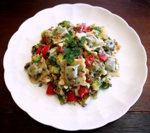 Rezept: Schneller Ravioli-Salat