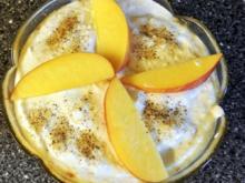 Joghurt-Kokoscreme auf Nektarinen - Rezept - Bild Nr. 6225