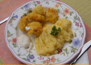 Frittierter Blumenkohl im pikanten Bierteig mit Kartoffelstampf und Tartaska Omacka - Rezept - Bild Nr. 2