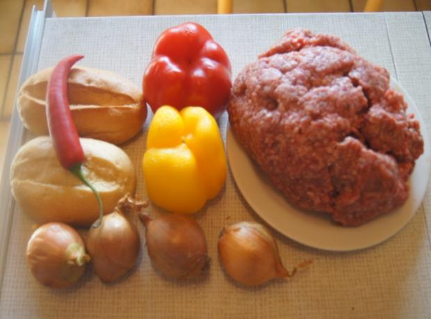 Herzhafte Buletten mit pikanter Sauce, Möhren-Mais-Gemüse und Kurkuma-Kartoffeln - Rezept - Bild Nr. 6231