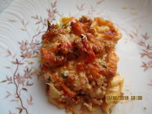 auflauf: tortellini, hack, tomaten, basilikum - Rezept - Bild Nr. 6237