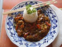 Rinderfilet mit Gemüse im Wok mit Basmati Reis - Rezept - Bild Nr. 6237