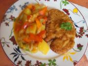 Wiener-Schnitzel vom Schwein mit Wokgemüse - Rezept - Bild Nr. 6238