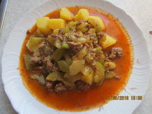 hackfleischpfanne mit gurkengemüse - Rezept - Bild Nr. 6241