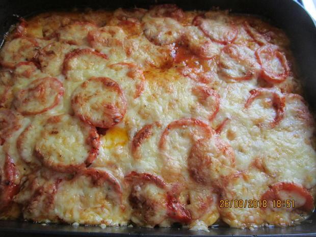 hackauflauf aus: zucchini, paprika, tomaten und kartoffeln - Rezept - Bild Nr. 6262