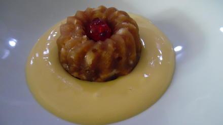 Apfel-Pudding-Törtchen auf Eierlikör-Creme - Rezept - Bild Nr. 6245