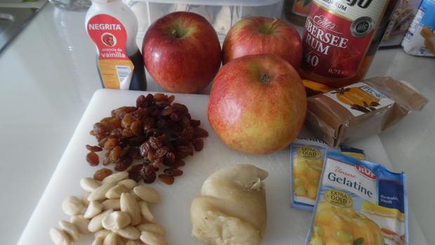 Apfel-Pudding-Törtchen auf Eierlikör-Creme - Rezept - Bild Nr. 6253