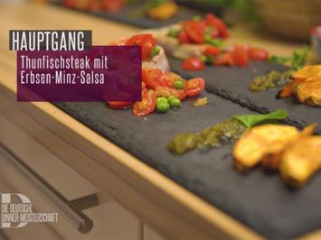 Thunfisch mit Erbsen-Minz-Salsa und Süßkartoffeln mit Nuss-Kräuter-Öl - Rezept - Bild Nr. 2