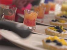 Kokos-Mango-Tarte und Melonen-Sorbet - Rezept - Bild Nr. 2