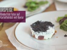 Rindertatar auf Kartoffelrösti mit Kaviar vom Stöhr - Rezept - Bild Nr. 2