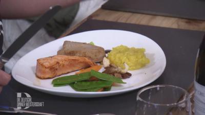 Lachs- und Thunfischfilet mit Zitronenreis und Zuckererbsen, Möhrchen und Austernpilzen - Rezept - Bild Nr. 2