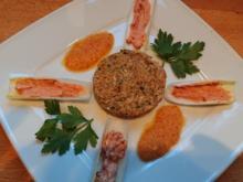 Hühnchentaler mit Tomatenchicoree und Pfirsichdipp - Rezept - Bild Nr. 2