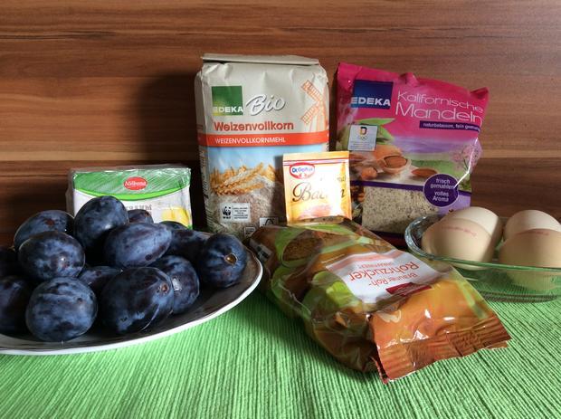 Pflaumenkuchen oder Kirschkuchen mit Marzipan  - Rezept - Bild Nr. 6257