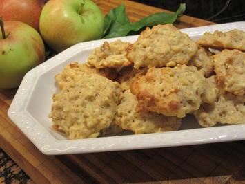 Backen: Apfel-Walnuss-Cookies - Rezept - Bild Nr. 6265