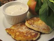 Vollkost: Apfelküchle (?) mit Vanillejoghurt - Rezept - Bild Nr. 6265