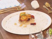 Tarte Suprise mit karamellisierten Kartoffeln auf Mandel-Crème - Rezept - Bild Nr. 2