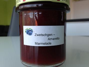 Rezept: Zwetschgen- Marmelade mit Amaretto
