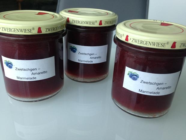Zwetschgen- Marmelade mit Amaretto  - Rezept - Bild Nr. 6268