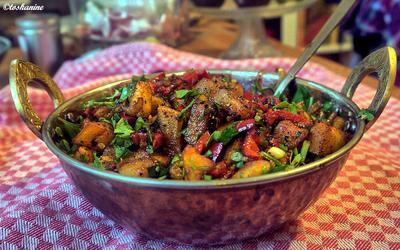 Rezept: Scharfe Kartoffel-Paprika-Pfanne