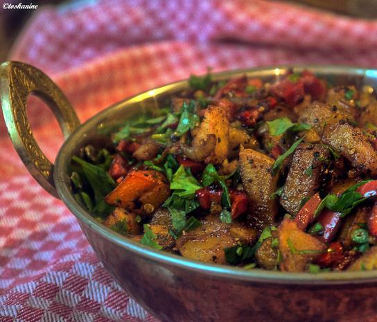 Scharfe Kartoffel-Paprika-Pfanne - Rezept - Bild Nr. 3