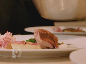 Zweierlei vom Lamm mit grünem Spargel, Rettich und Teriyaki-Sauce (Sonja Frühsammer) - Rezept - Bild Nr. 2
