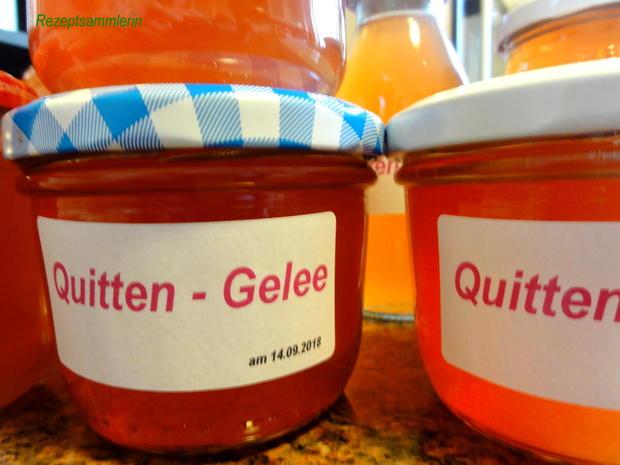 M&G:   QUITTEN ~ GELEE und SAFT - Rezept - Bild Nr. 6269