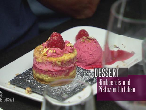 Törtchen met Pistazien an iesicher Himbeer-Limetten-Crème - Rezept - Bild Nr. 2