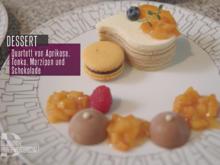 Quartett von Mandel, Schokolade, Aprikose und Tonkabohne - Rezept - Bild Nr. 2