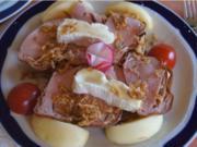 Topinky mit leckeren Belag und Pimentos - Rezept - Bild Nr. 2