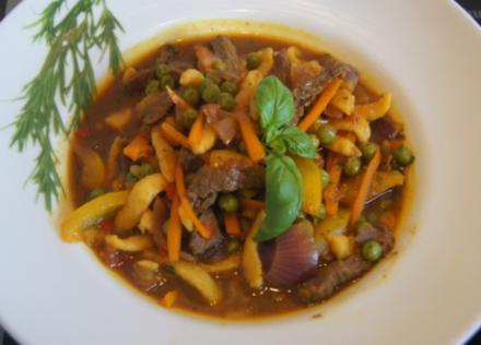 Rindfleisch-Gemüse-Wok mit Spätzle - Rezept - Bild Nr. 6311