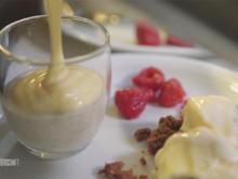 Die letzte Zeche - Pudding: Weinschaum auf Mandelcreme - Rezept - Bild Nr. 6319