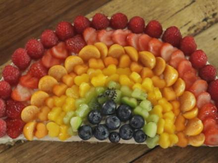 Regenbogen Käsekuchen - Rezept - Bild Nr. 2
