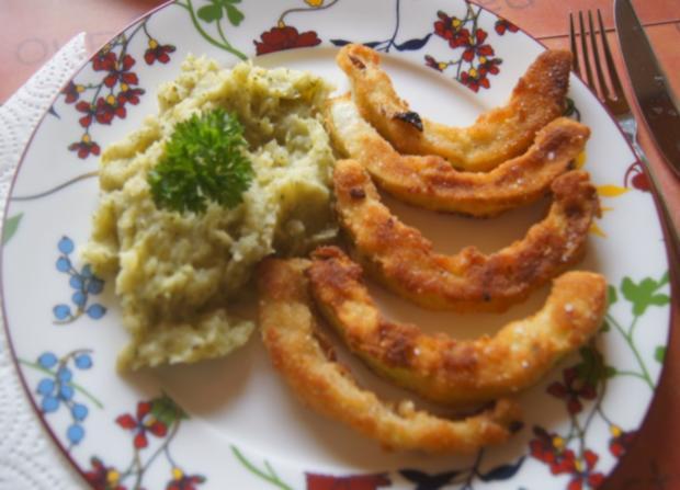 Gebratener Zucchini mit Brokkoli-Kartoffelstampf - Rezept - Bild Nr. 6359