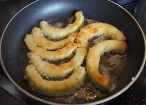 Gebratener Zucchini mit Brokkoli-Kartoffelstampf - Rezept - Bild Nr. 6364