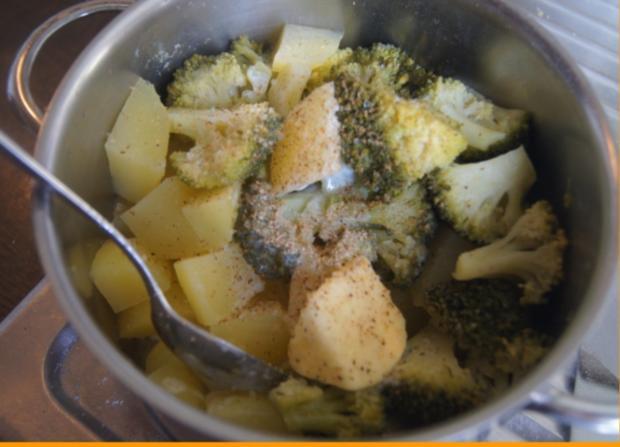 Gebratener Zucchini mit Brokkoli-Kartoffelstampf - Rezept - Bild Nr. 6367