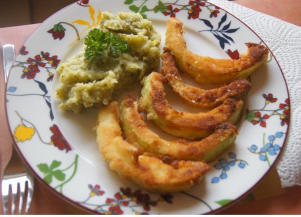 Gebratener Zucchini mit Brokkoli-Kartoffelstampf - Rezept - Bild Nr. 6369