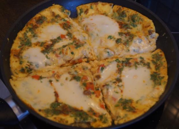 Mozzarella-Paprika-Omelett - Rezept - Bild Nr. 6385