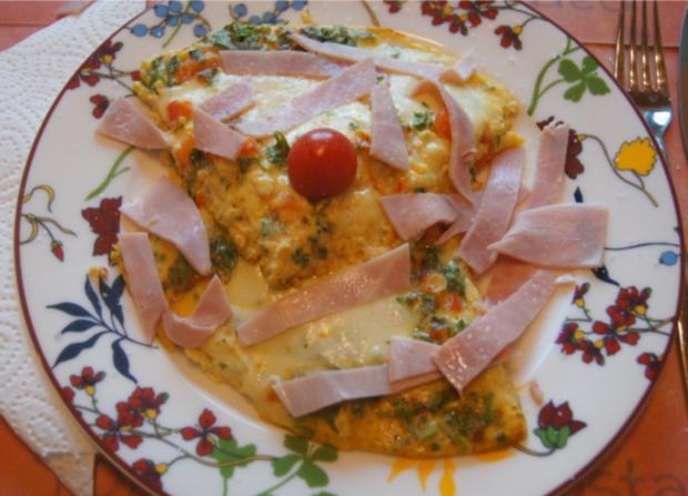 Mozzarella-Paprika-Omelett - Rezept - Bild Nr. 6386