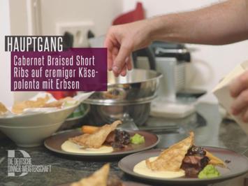 Cabernet Braised Short Ribs auf cremiger Käse-Polenta mit Erbsen - Rezept - Bild Nr. 6374