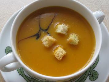 Kürbiscreme-Suppe vom Butternut-Kürbis - Rezept - Bild Nr. 6391