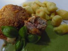 Schweinefilet-Röllchen, Spinat-Gorgonzolasoße und Gnocchi - Rezept - Bild Nr. 6391
