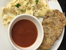 Gebackene Auberginen Schnitzel mit cremiger Pasta - Rezept - Bild Nr. 2