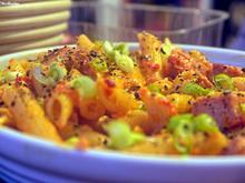 Scharfe Paprikasauce mit gebratener Fleischwurst und Pasta - Rezept - Bild Nr. 6477