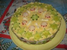 Salat-Torte ( für Weihnachten ) - Rezept - Bild Nr. 6491