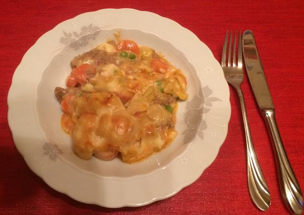 Kartoffel-Gemüse-Hack-Auflauf mit Käsesoße - Rezept - Bild Nr. 6549